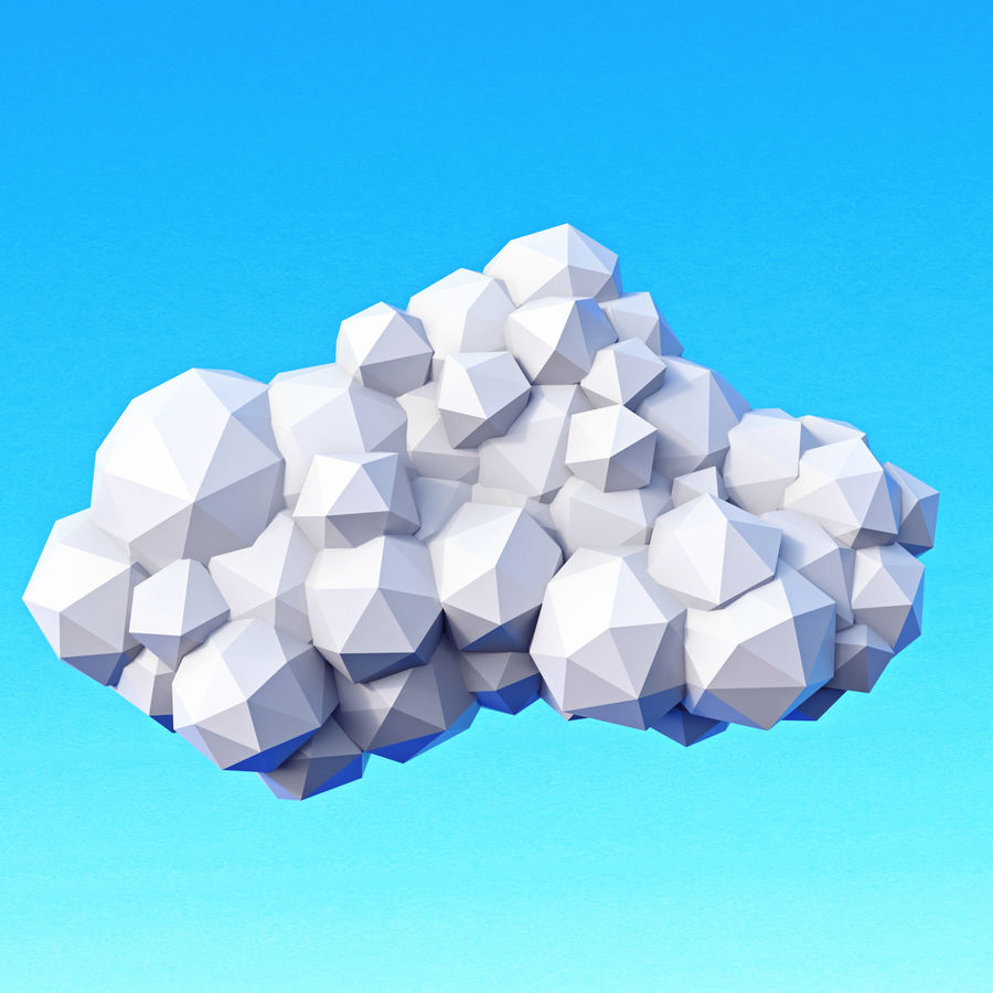Clouds Pack Düşük Poli royalty-free 3d model - Preview no. 12