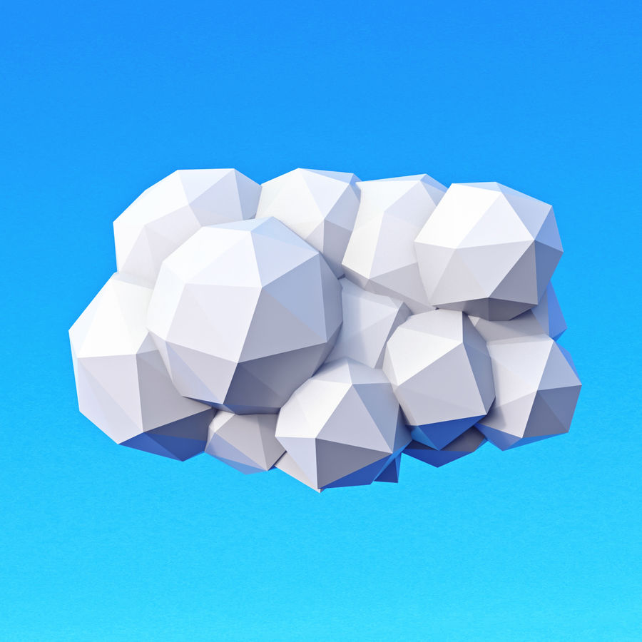 Clouds Pack Düşük Poli royalty-free 3d model - Preview no. 2