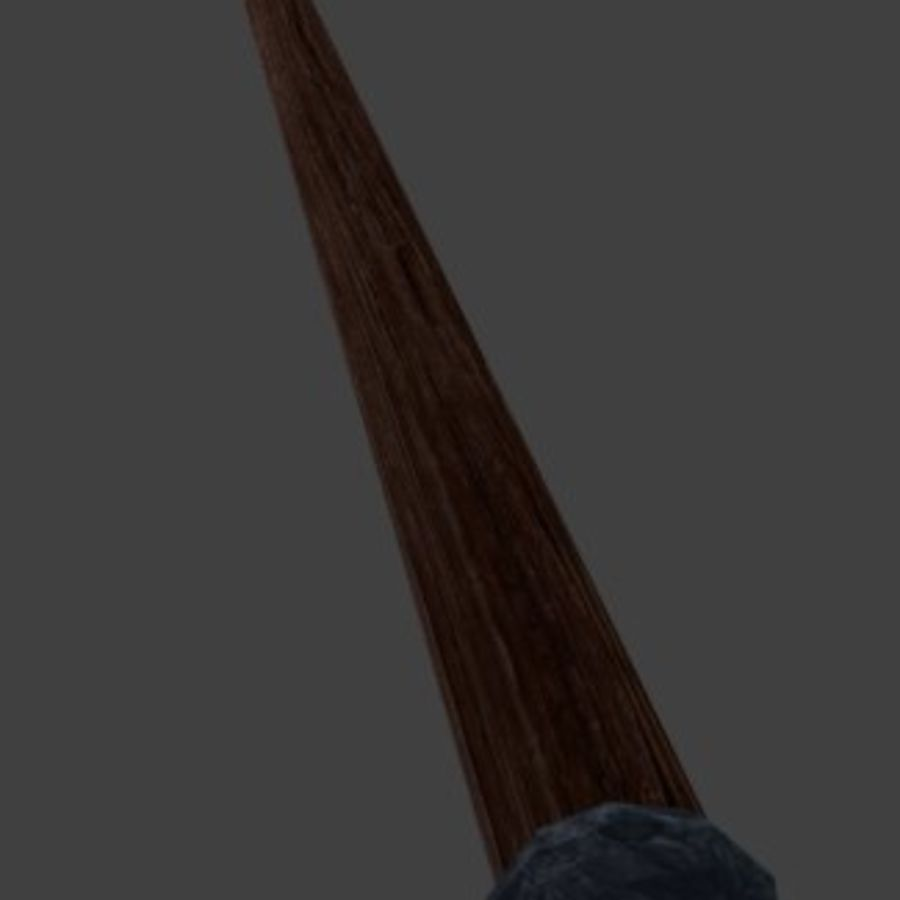 野兽矛 royalty-free 3d model - Preview no. 3