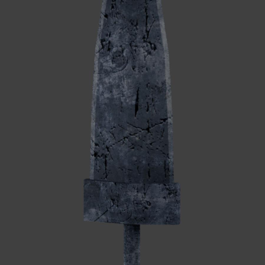 野兽矛 royalty-free 3d model - Preview no. 1