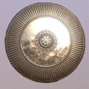 Ornate Bronze Shield 3d model