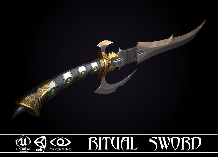 Ritual Sword royalty-free 3d model - Preview no. 1