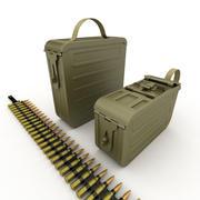 Ящики с патронами для пулемета 3d model