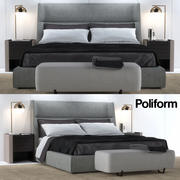 Łóżko Poliform Letto 3d model