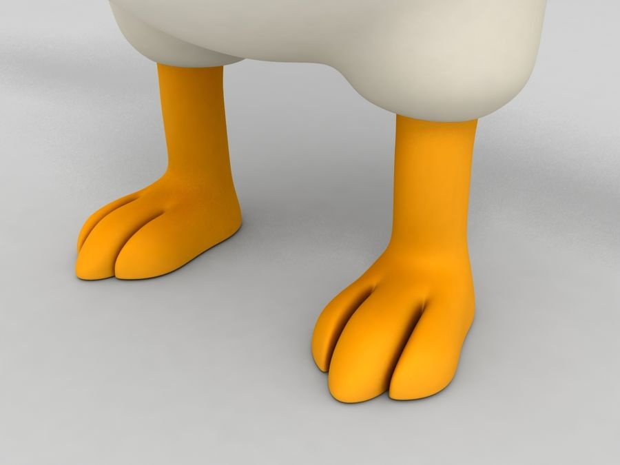 Chicken Character royalty-free 3d model - Preview no. 6