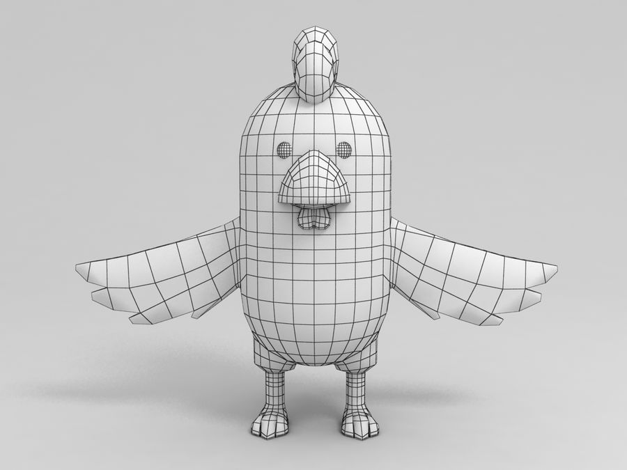 Chicken Character royalty-free 3d model - Preview no. 8