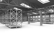 Interior del hangar modelo 3d