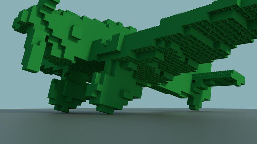 Lego Plane royalty-free 3d model - Preview no. 5
