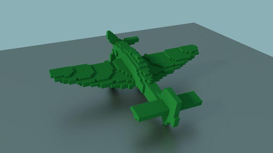 Lego Plane royalty-free 3d model - Preview no. 4