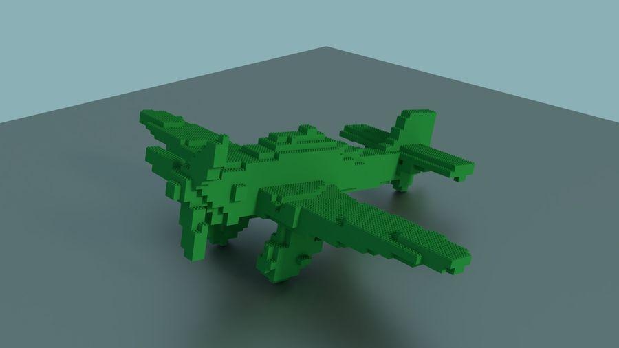 Lego Plane royalty-free 3d model - Preview no. 1