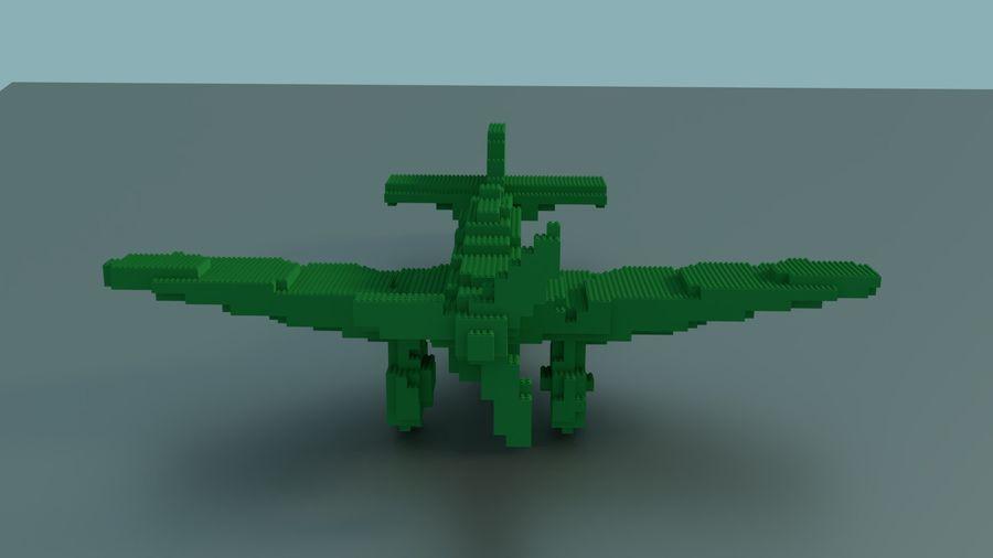 Lego Plane royalty-free 3d model - Preview no. 2