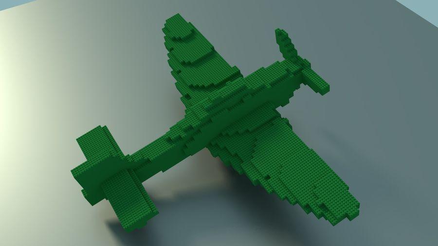 Lego Plane royalty-free 3d model - Preview no. 3