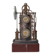 steampunk klok 3d model