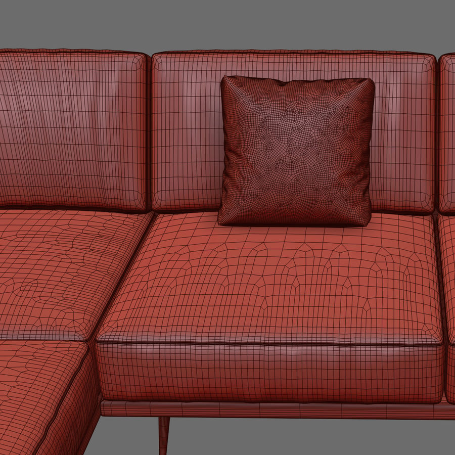 BoConcept Carlton Sofa royalty-free 3d model - Preview no. 5