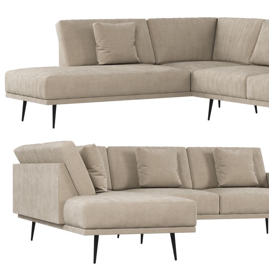 BoConcept Carlton Sofa royalty-free 3d model - Preview no. 4
