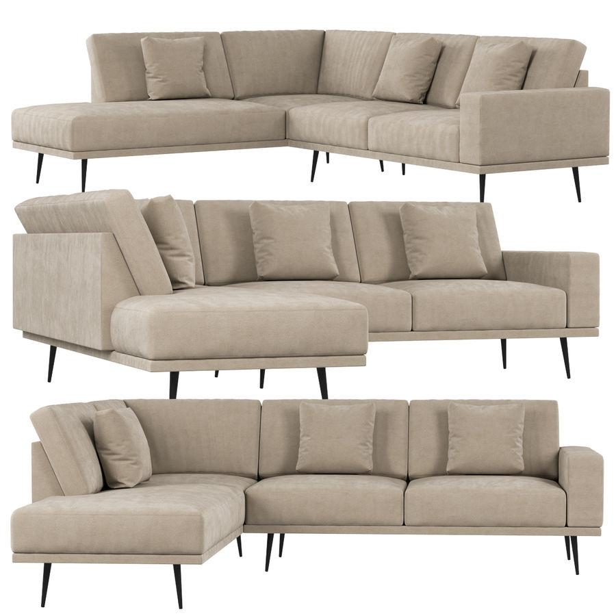 BoConcept Carlton soffa royalty-free 3d model - Preview no. 1