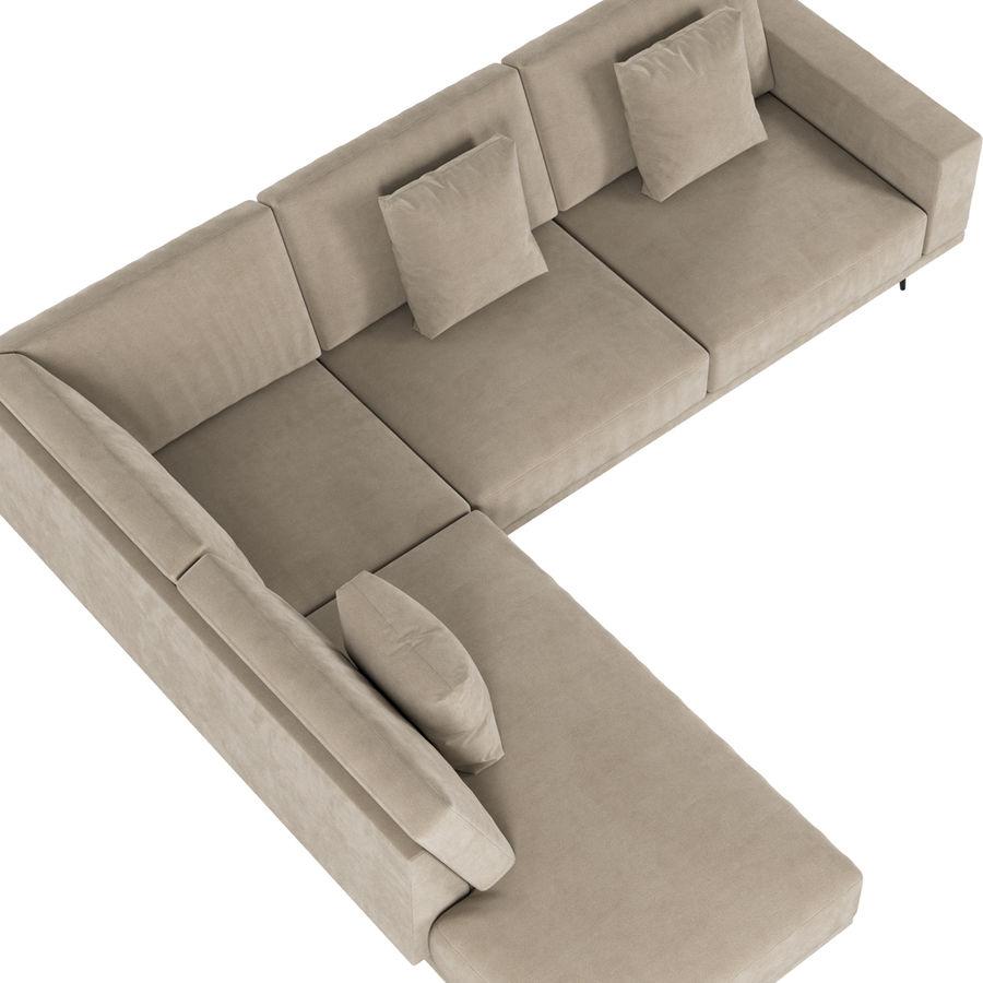BoConcept Carlton Sofa royalty-free 3d model - Preview no. 2