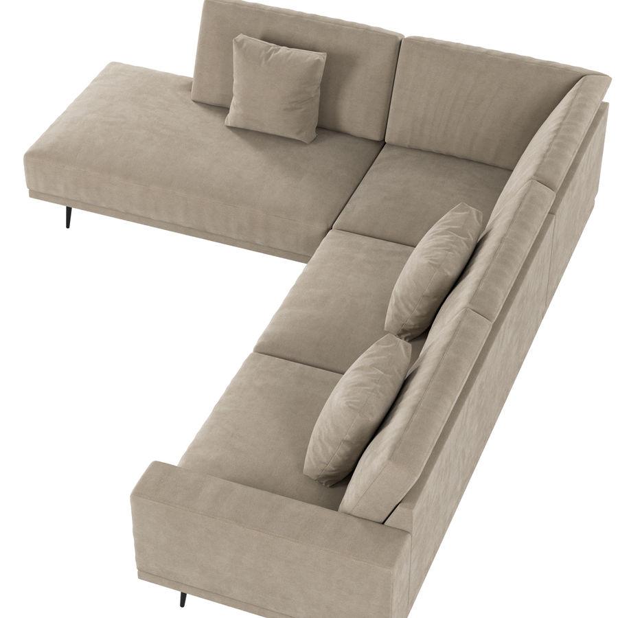 BoConcept Carlton soffa royalty-free 3d model - Preview no. 3