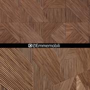 Emmemobili STRIPES BOISERIEwalnut panels 3d model