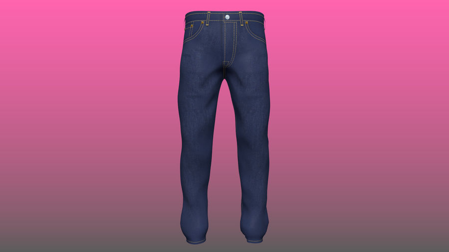 Levi's Jeans royalty-free 3d model - Preview no. 1