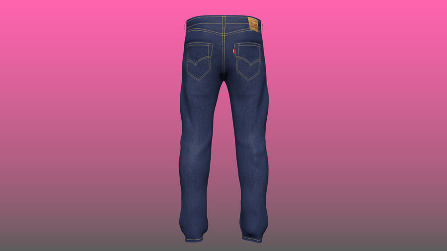 Levi's Jeans royalty-free 3d model - Preview no. 2