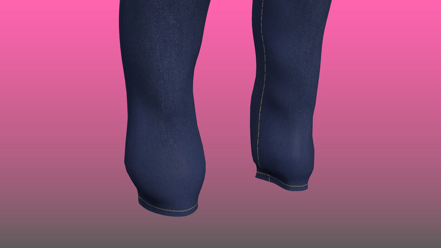 Levi's Jeans royalty-free modelo 3d - Preview no. 5