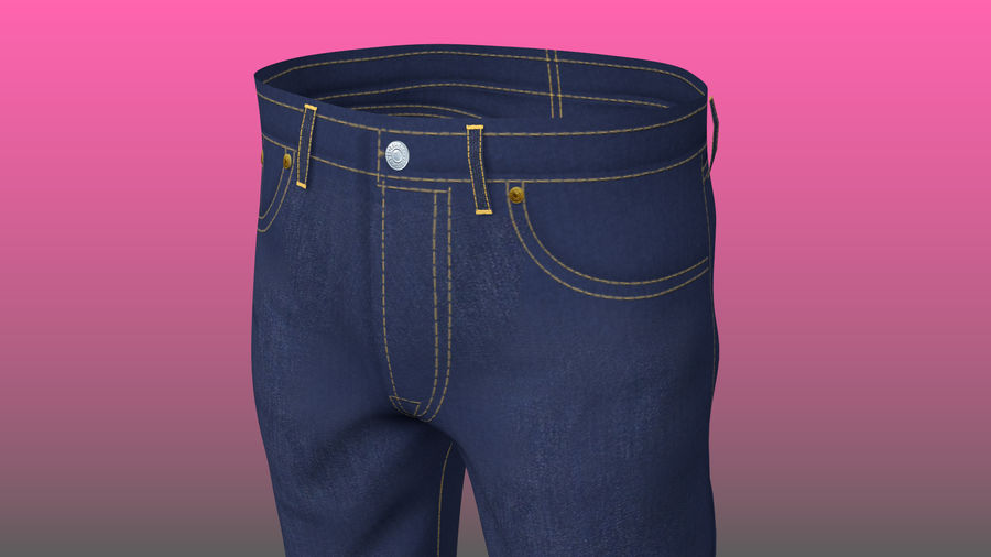 Levi's Jeans royalty-free 3d model - Preview no. 3