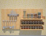 厨房元素 3d model