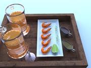 Ustaw piwo i krewetki 3d model