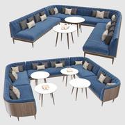Assentos para banquetes 001 3d model