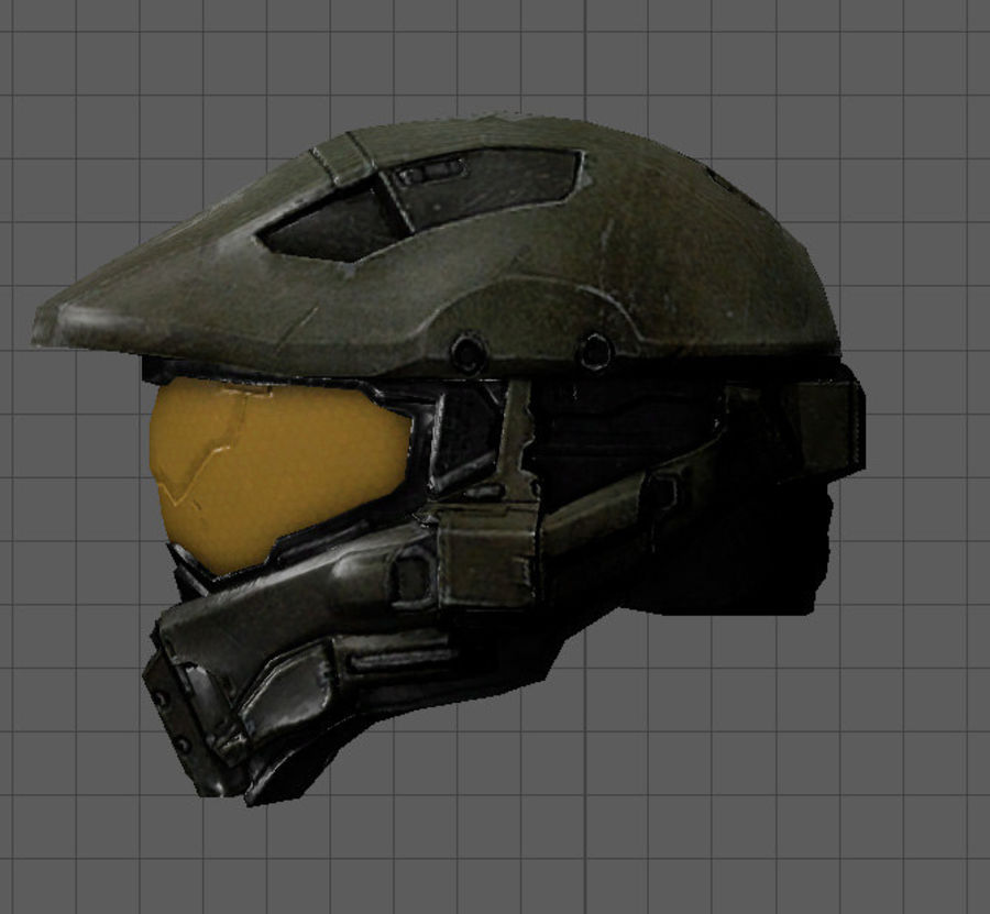 Scifi Space Helm royalty-free 3d model - Preview no. 3