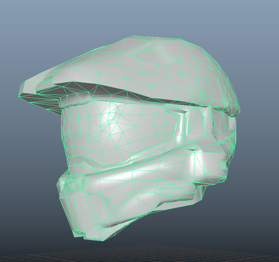 Scifi Space Helm royalty-free 3d model - Preview no. 5