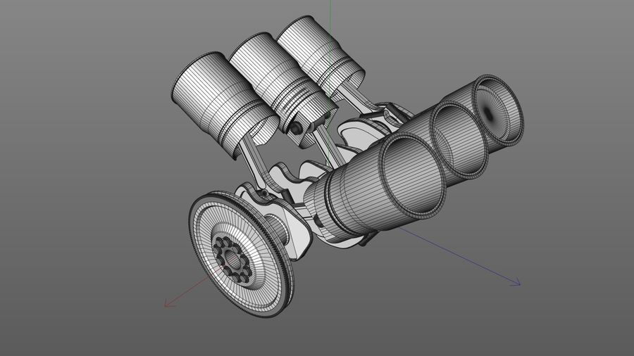 Motor / Motor royalty-free 3d model - Preview no. 4