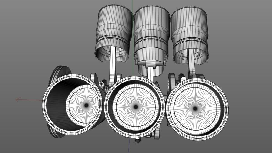 Motor / Motor royalty-free 3d model - Preview no. 7