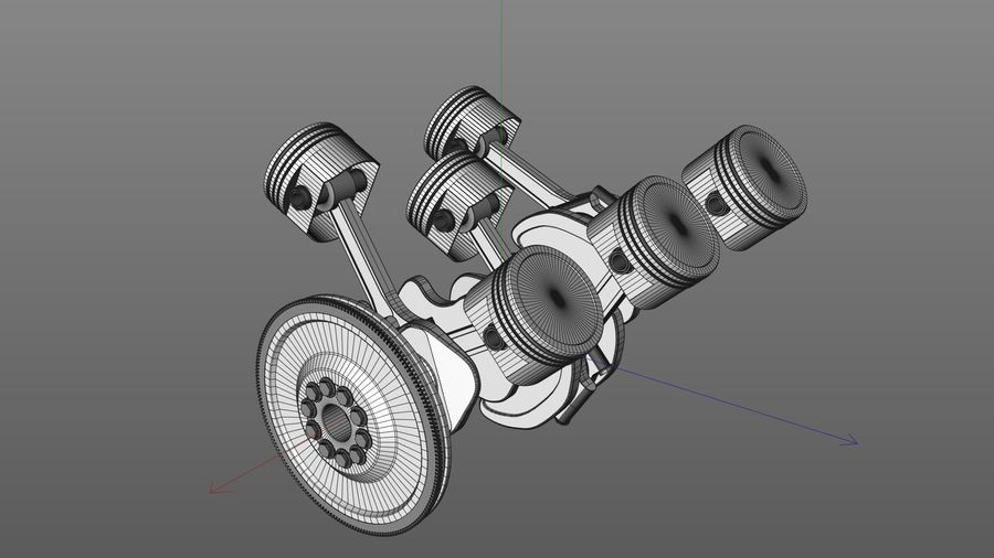 Motor / Motor royalty-free 3d model - Preview no. 8