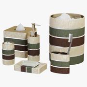 현대 선 현인 줄무늬 목욕 부속품 3d model