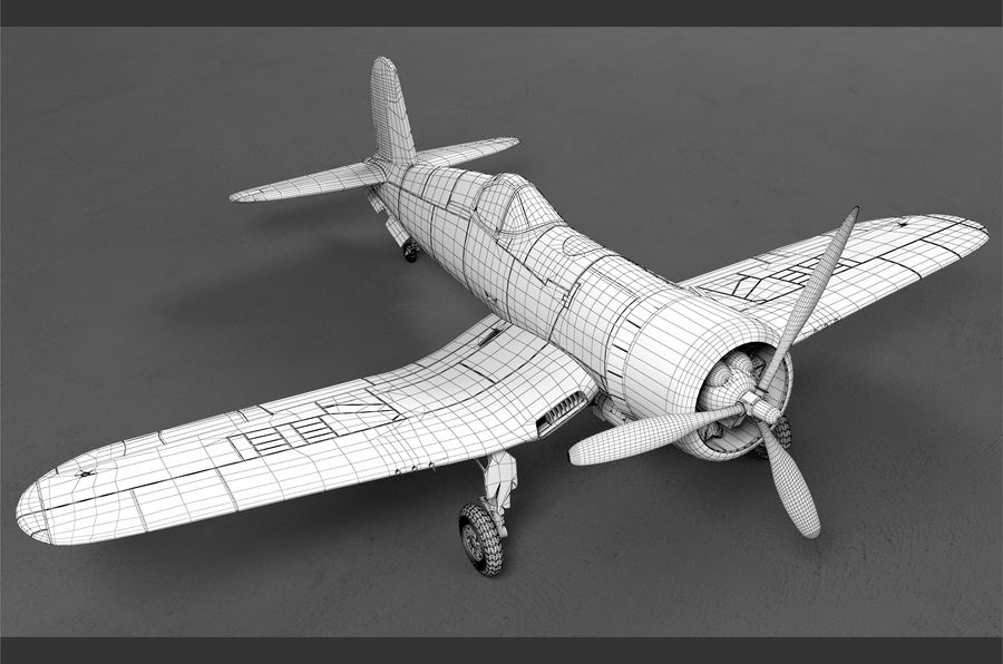 aircraft Fighter royalty-free 3d model - Preview no. 6