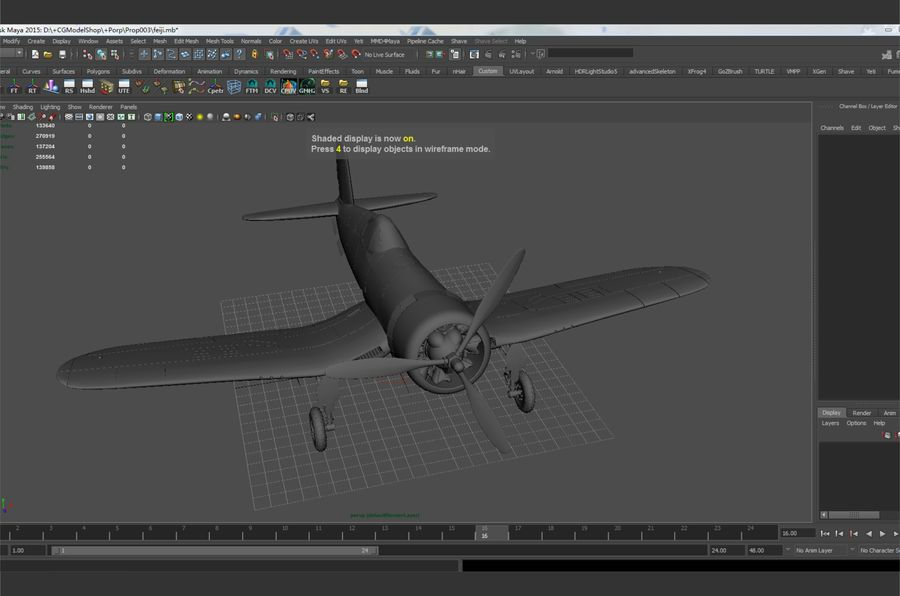 aircraft Fighter royalty-free 3d model - Preview no. 8