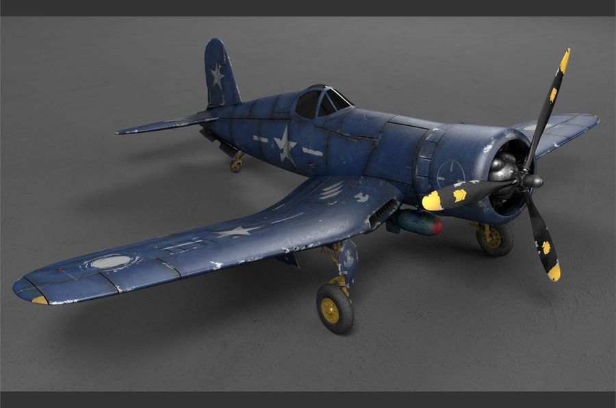 aircraft Fighter royalty-free 3d model - Preview no. 1