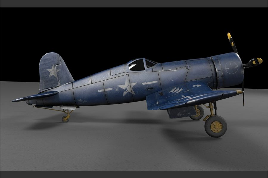 aircraft Fighter royalty-free 3d model - Preview no. 2