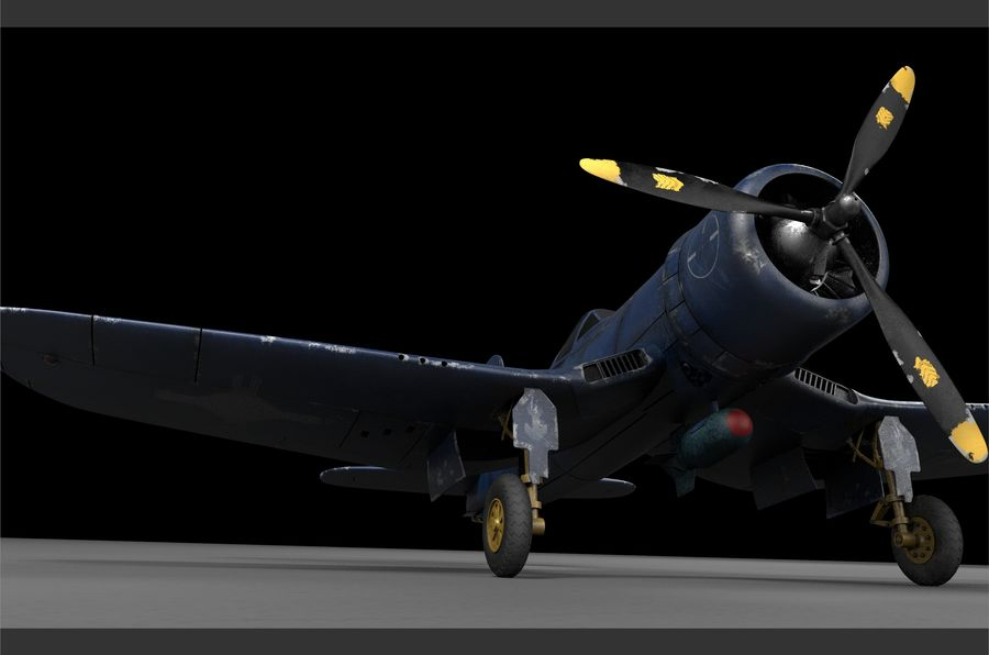 aircraft Fighter royalty-free 3d model - Preview no. 4