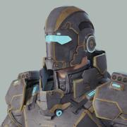 Eroe di fantascienza 3d model