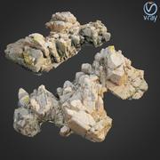 3d scanned rock cliff A2 3d model