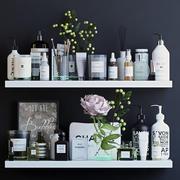 Uppsättning för kosmetisk inredning för badrum 3d model