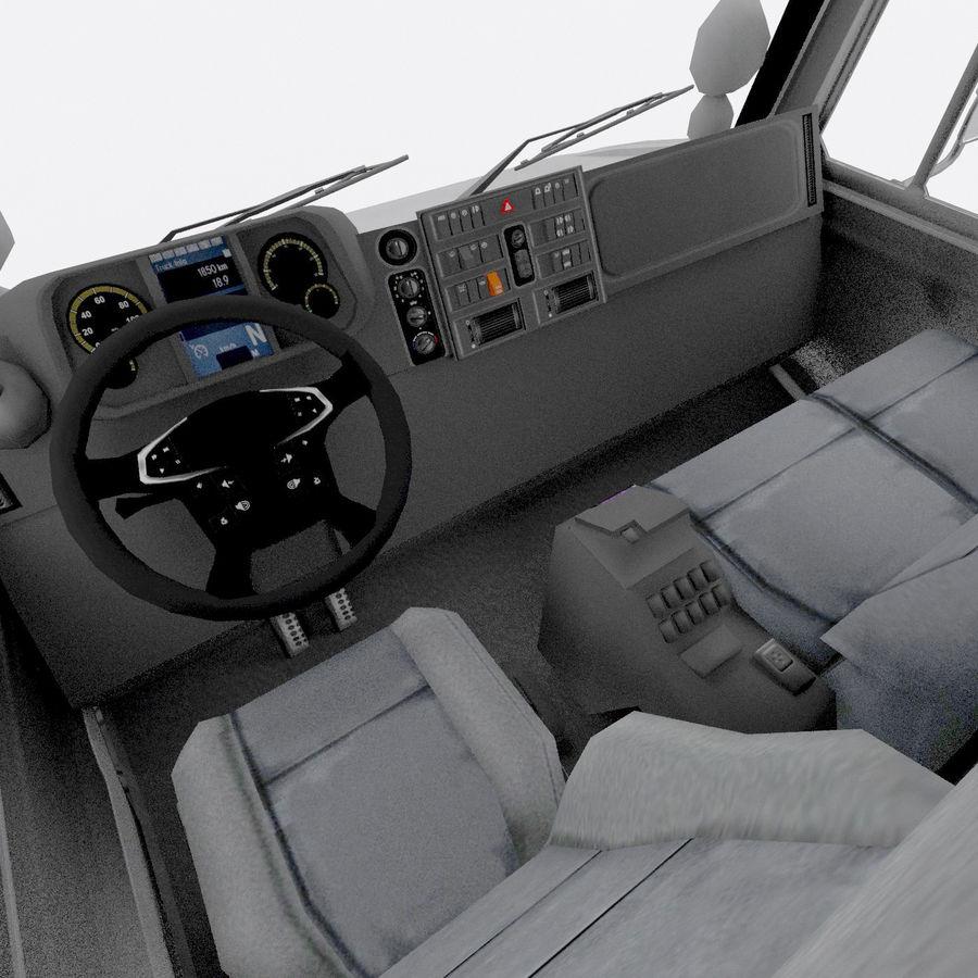 unimog kamyon royalty-free 3d model - Preview no. 8