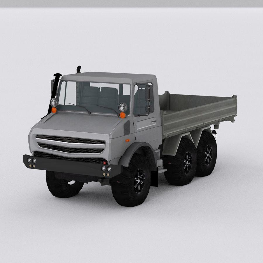 unimog kamyon royalty-free 3d model - Preview no. 4