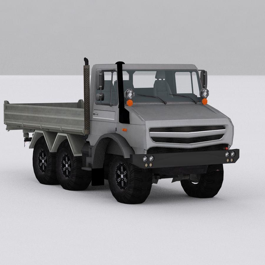 unimog kamyon royalty-free 3d model - Preview no. 6