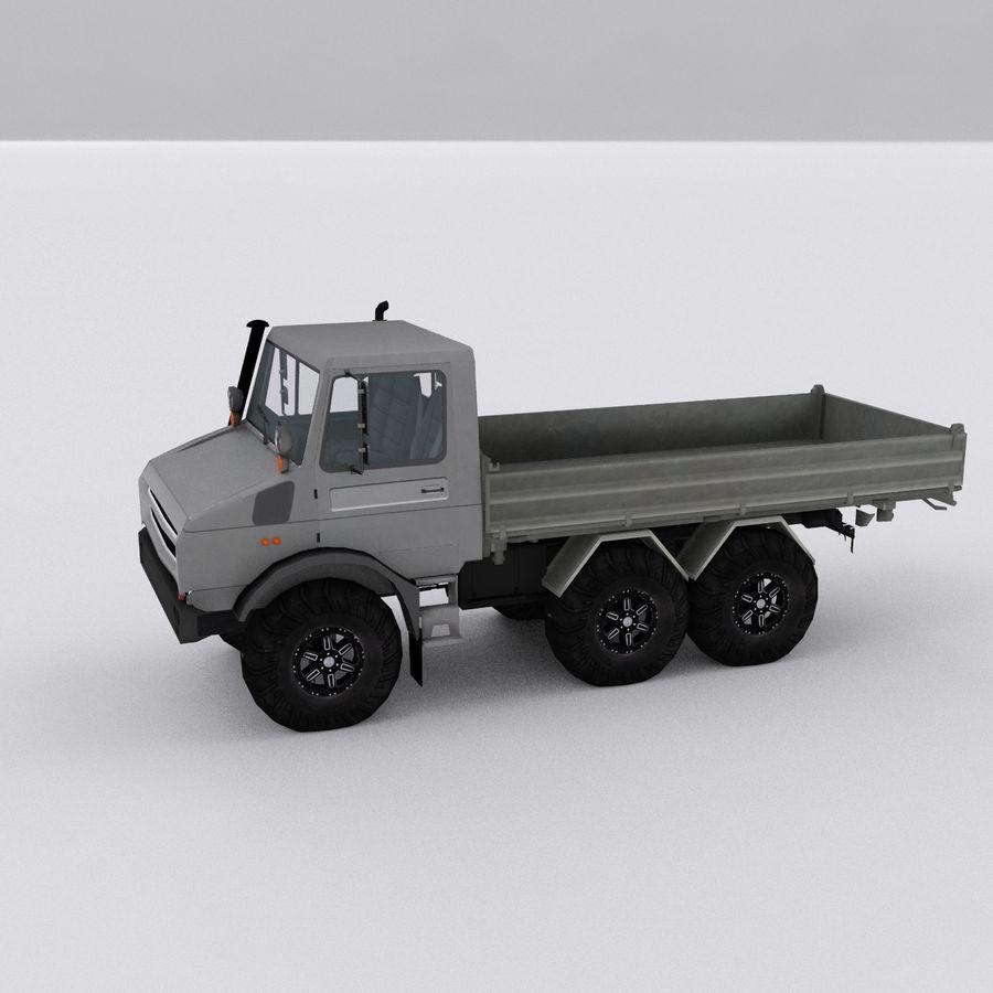 unimog kamyon royalty-free 3d model - Preview no. 3