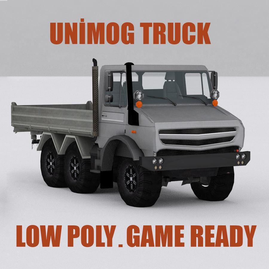 unimog kamyon royalty-free 3d model - Preview no. 1