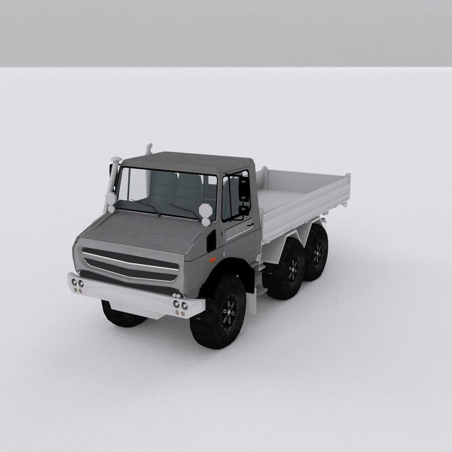 unimog kamyon royalty-free 3d model - Preview no. 2